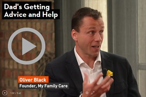Oliver Black talking about the pressure on working dads